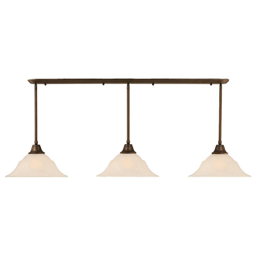 Filament Design Concord 3-Light Bronze Incandescent Ceiling Pendant