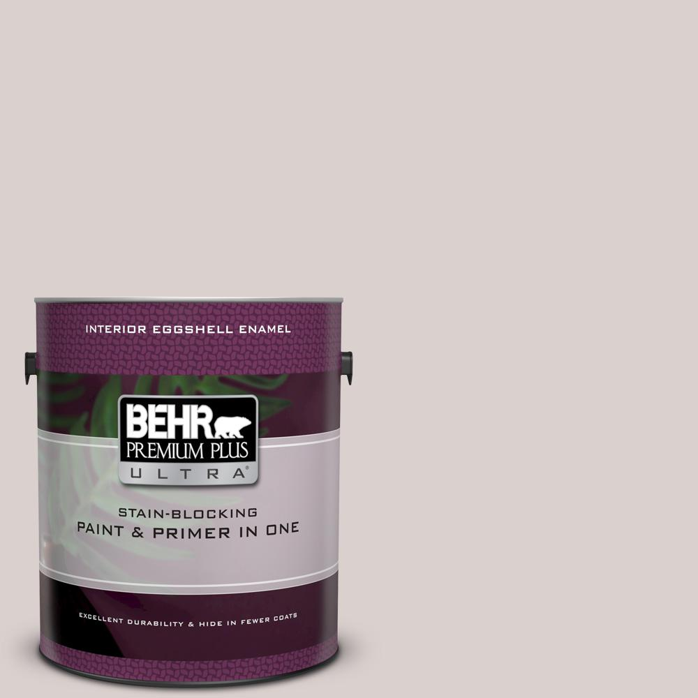 BEHR Premium Plus Ultra 1 gal. #UL250-11 Mauve Morning Eggshell Enamel Interior Paint and Primer in One