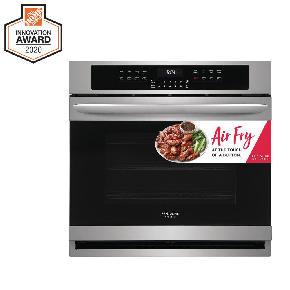 FRIGIDAIRE GALLERY 30 in. Single Electric Wall Oven with Air Fry Technology and Self-Cleaning in Stainless Steel