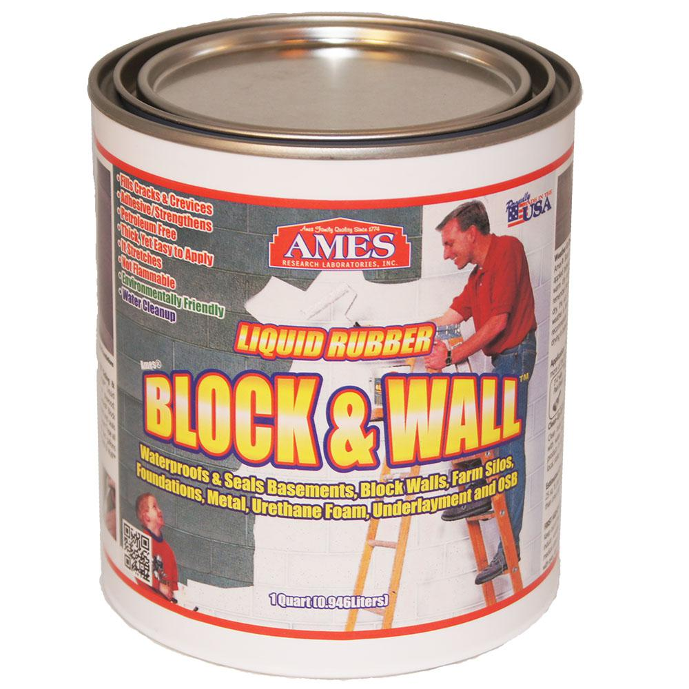 Ames Block And Wall 1 Quart Liquid Rubber Waterproof