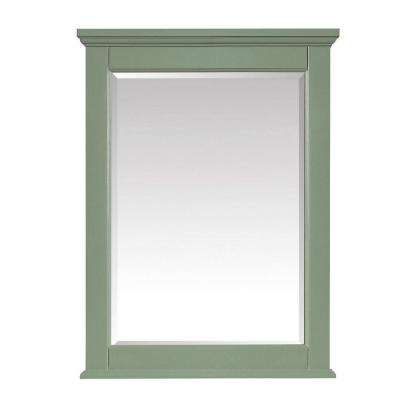 Colton 24 in. x 32 in. x 17 in. Framed Wall Mirror in Basil Green