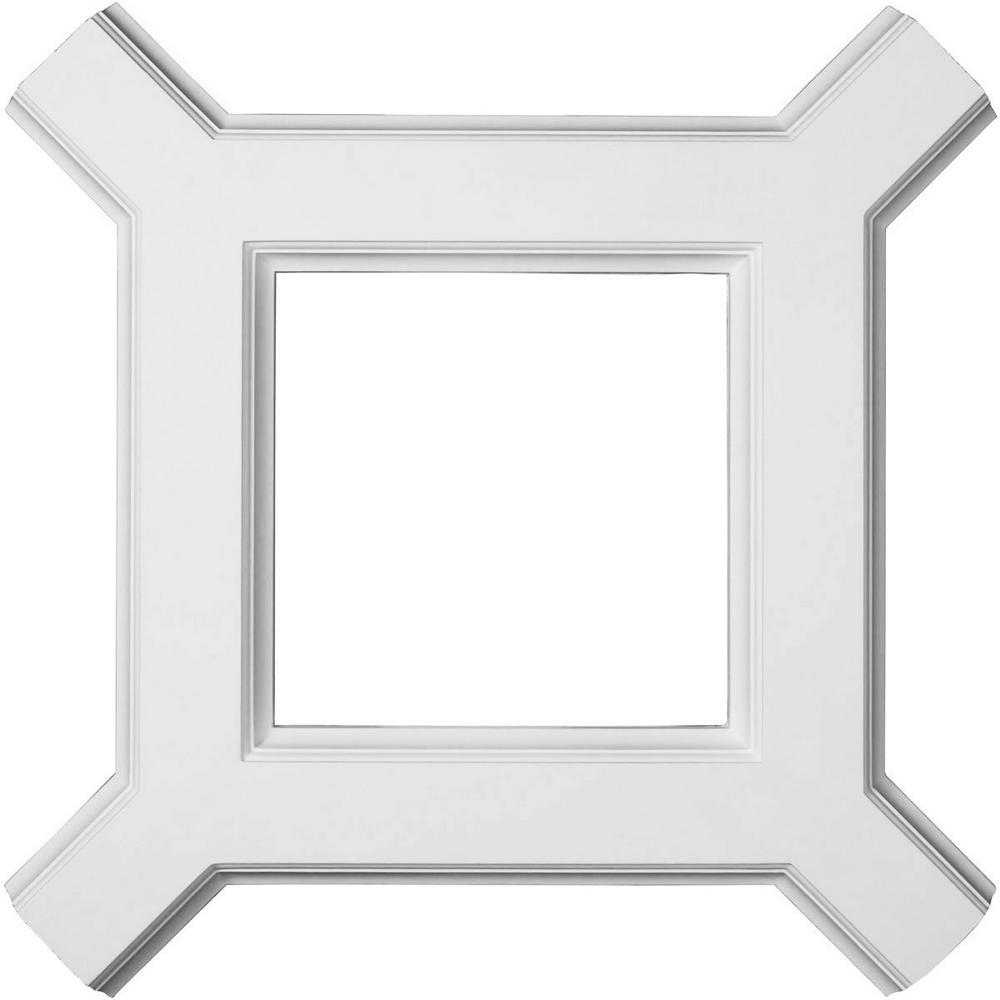 Ekena Millwork 36 in. Inner Diamond Intersection for 5 in. Traditional Coffered Ceiling System