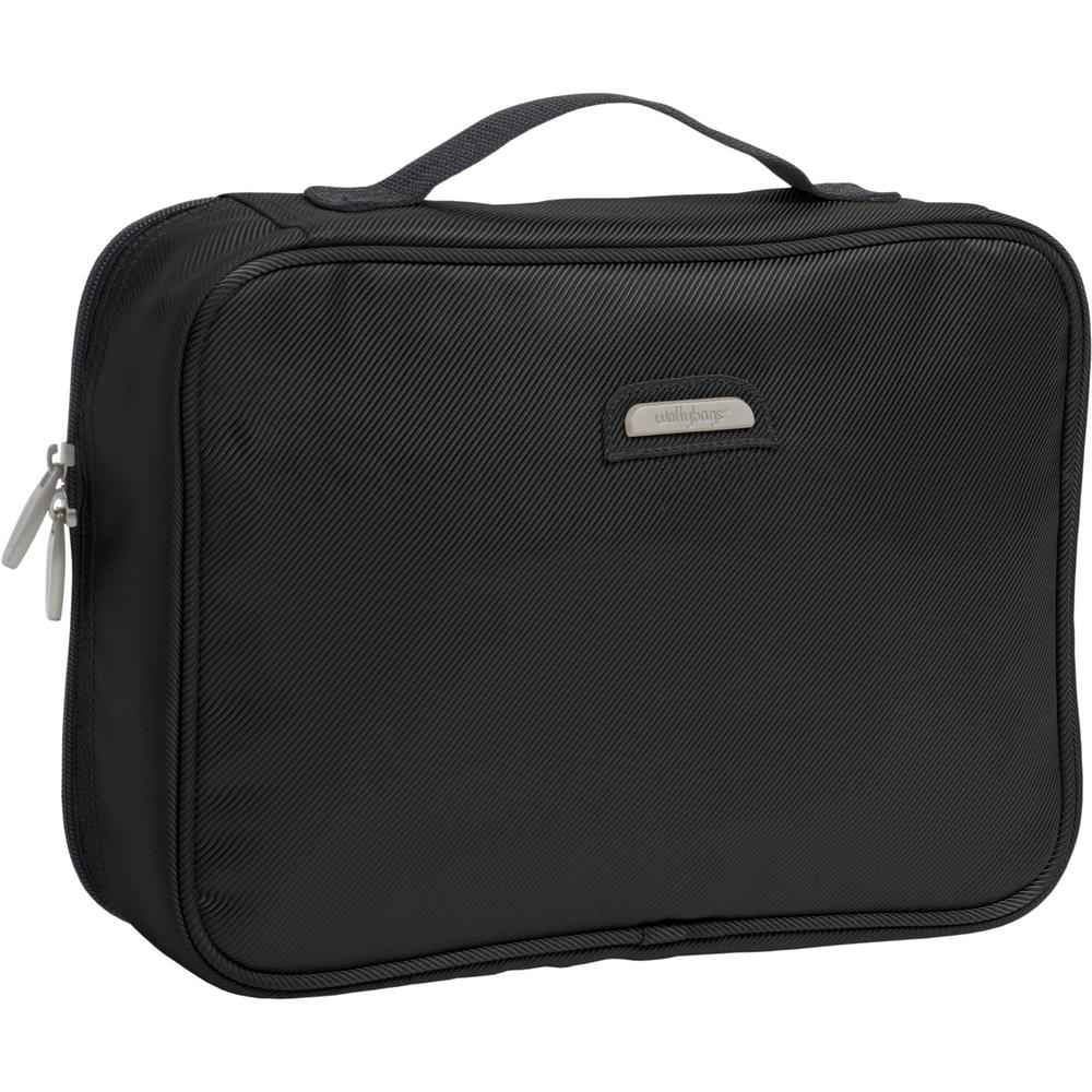 8b0314eb27c2 WallyBags Hanging Black Travel Toiletry Bag-440 BLK - The Home Depot