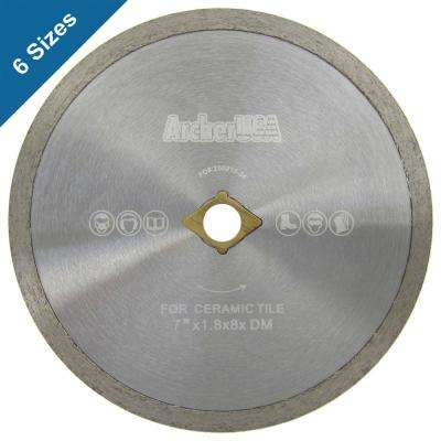 7 in. Continuous Rim Diamond Blade for Tile Cutting
