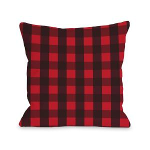 Plaid Christmas Pillows.Plaid Christmas Tree Reversible 16 In X 16 In Decorative Pillow