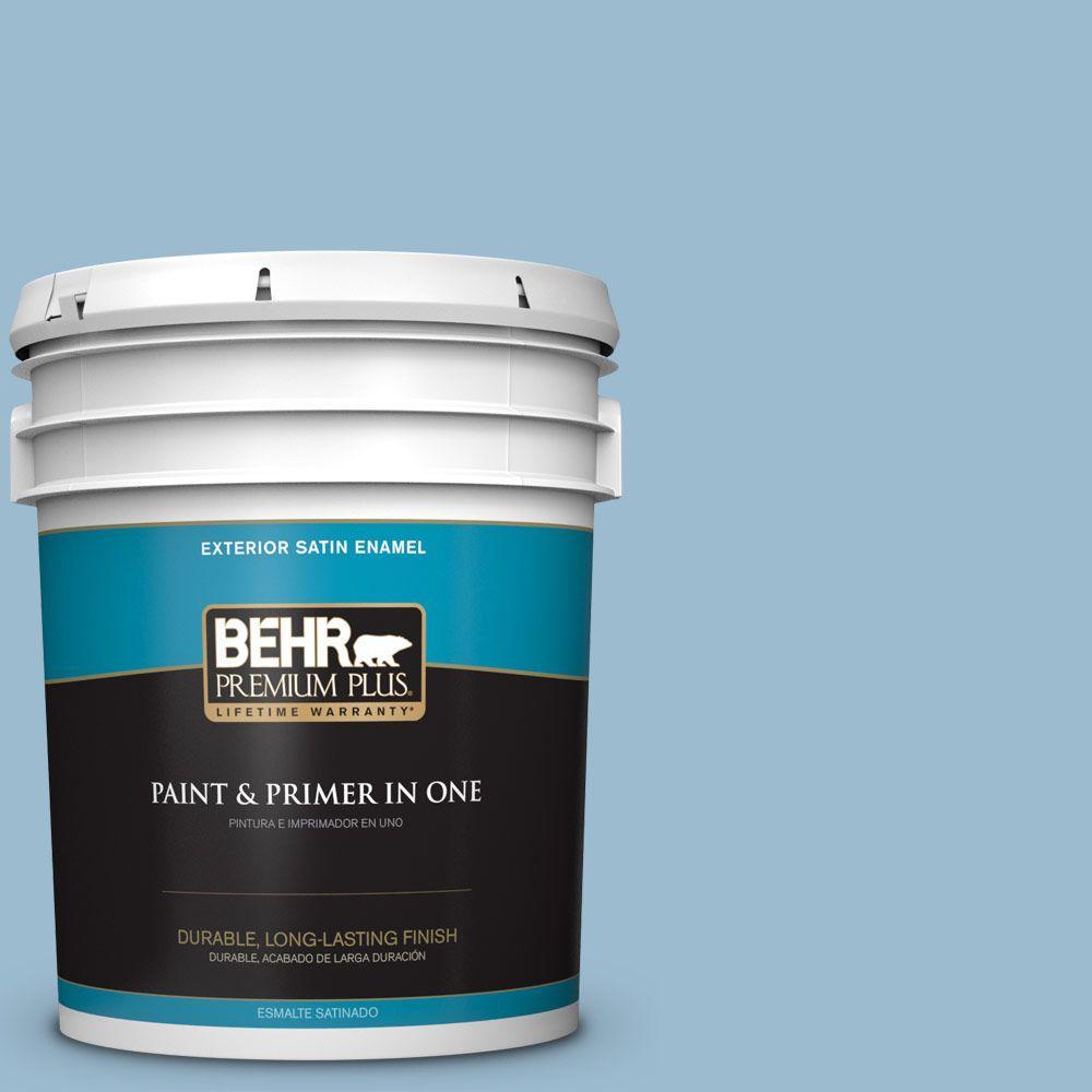 BEHR Premium Plus 5-gal. #S500-3 Partly Cloudy Satin Enamel Exterior Paint