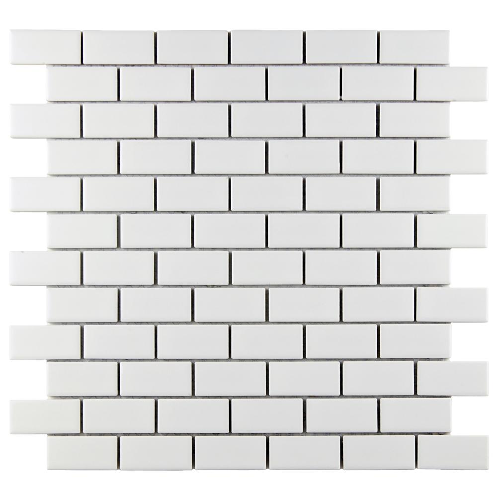 Merola Tile Metro Subway Matte White 11 3 4 In X