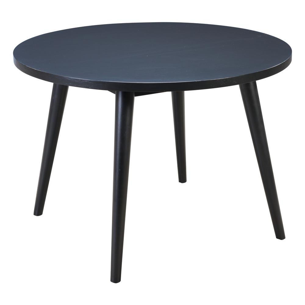 Raven Black Round Dining Table