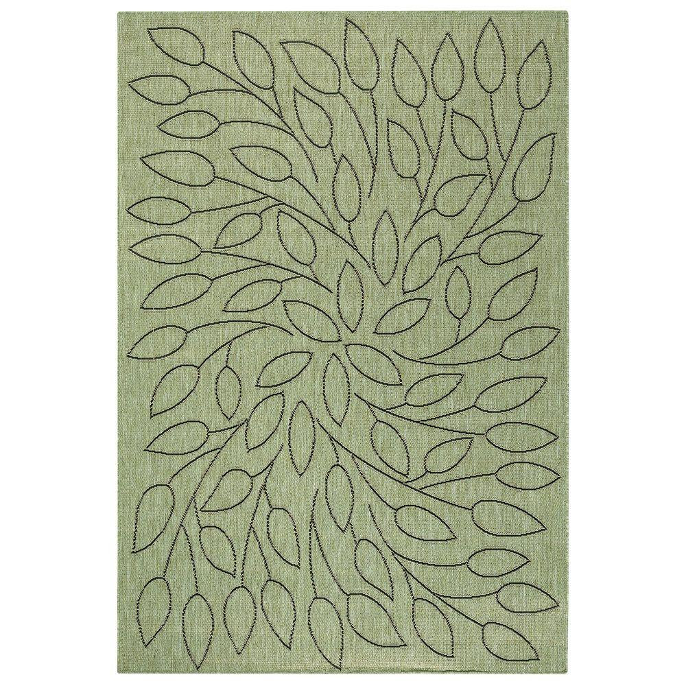 Home Decorators Collection Persimmon Green Black 4 Ft X 5 Ft Area
