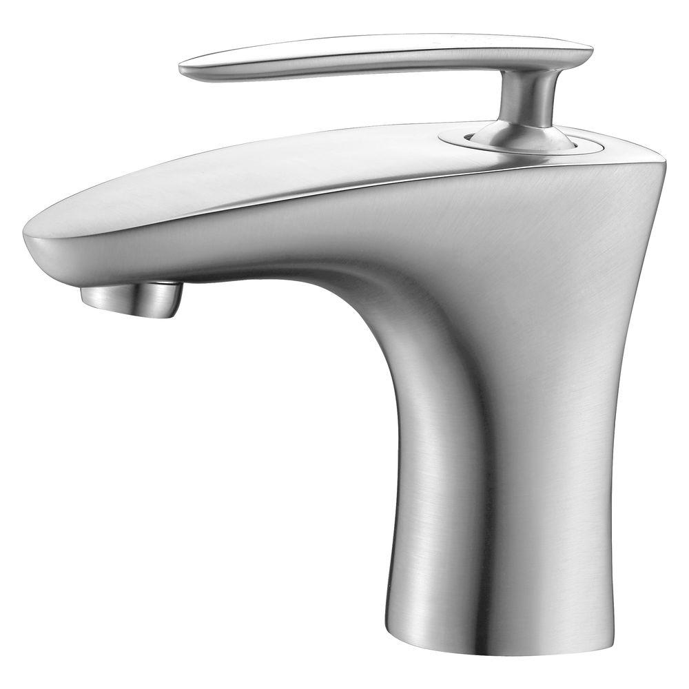 Y Decor Patsy Single Hole Single-Handle Bathroom Faucet in Brushed ...