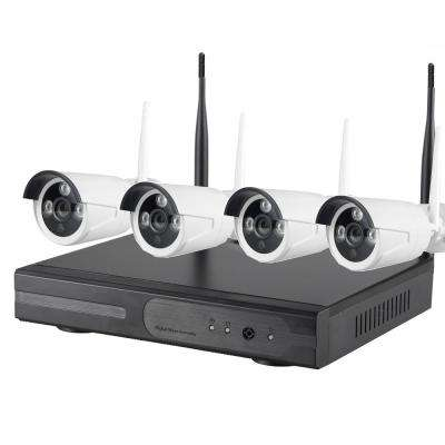 Wireless 8CH 1080p HD 2TB HDD NVR WiFi Surveillance System with HDMI Port and 4-Bullet Cameras