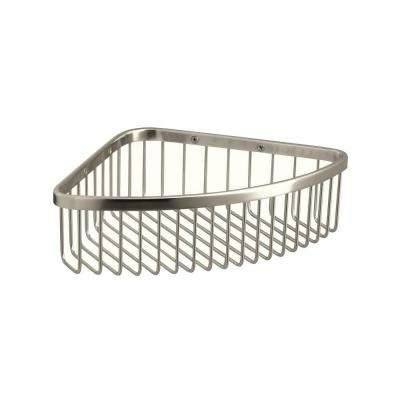 Large Shower Basket in Vibrant Polished Nickel
