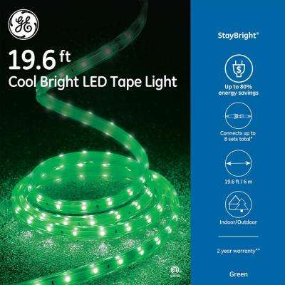 StayBright 19.6 ft. 240-Light LED Green Super Bright Tape Light