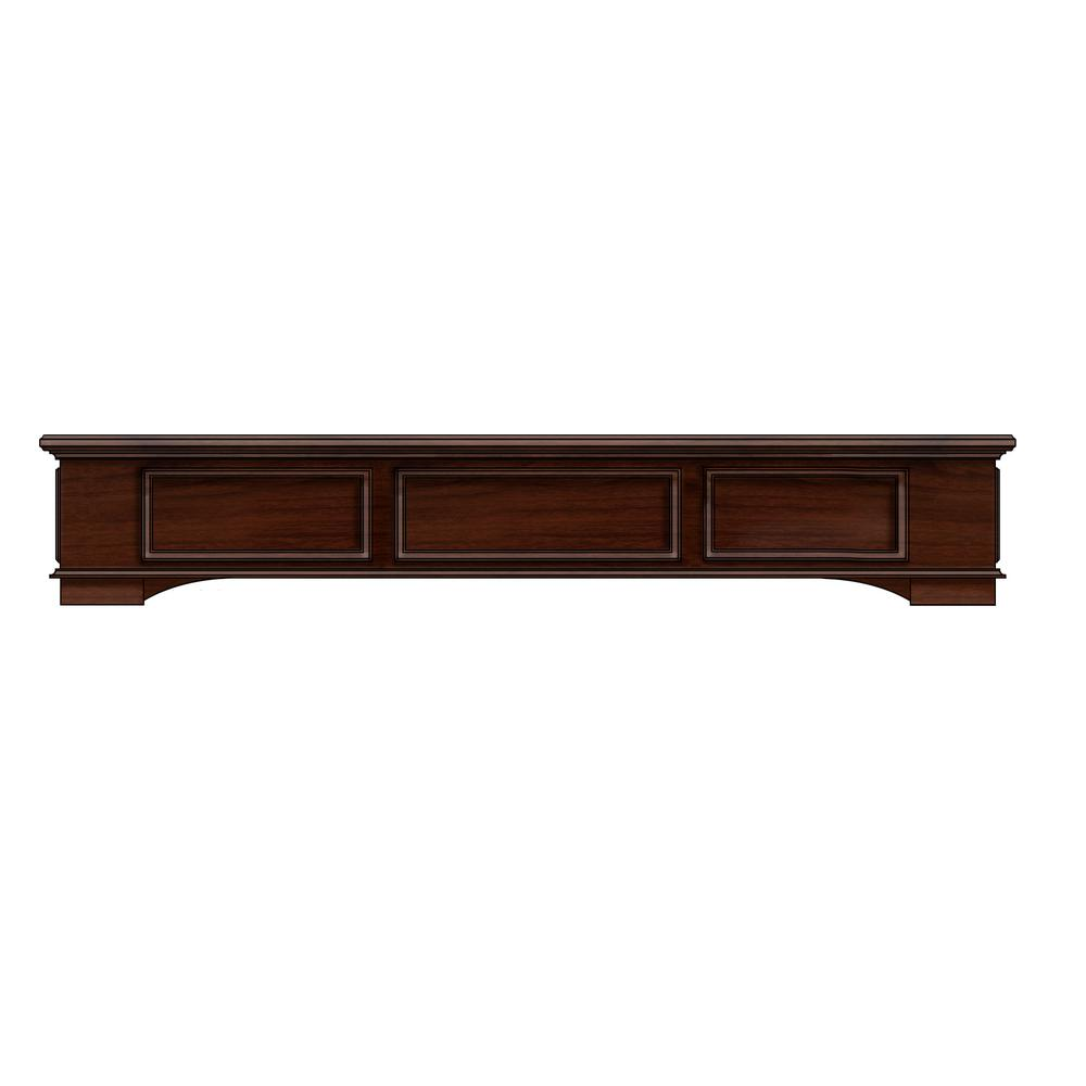 Cambridge 5 ft. Box Style Wood with Cherry Cap-Shelf Mantel