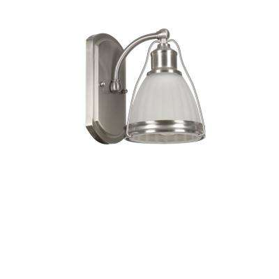 Landry 1-Light Satin Nickel Bath Light