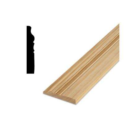 DM 400 5/8 in. x 4 in. x 96 in. Solid Pine Base Moulding Embossed with Ladder Design