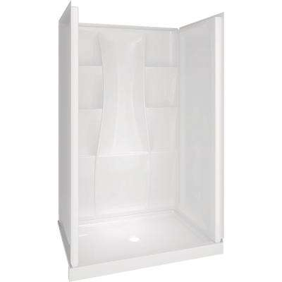 Classic 400 34 in. x 48 in. x 77 in. Shower Kit in White