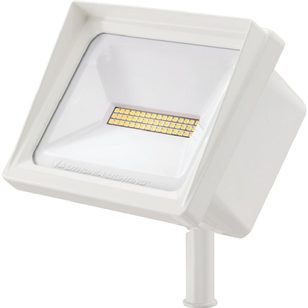QTE Line Voltage White LED Landscape Flood Light with Knuckle Mount 5000K
