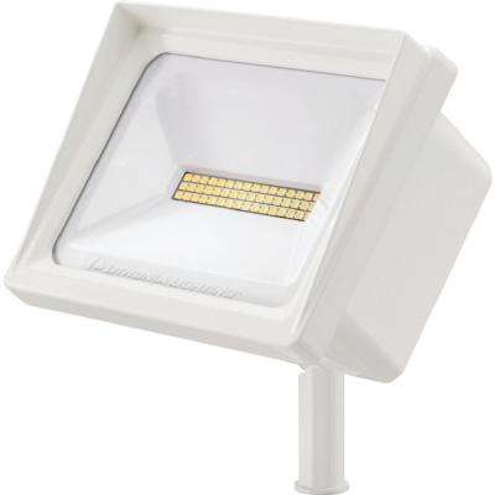 QTE 24-Watt White Outdoor Integrated LED Flood Light