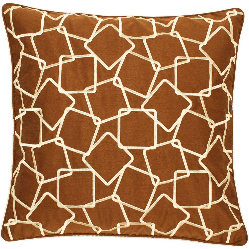 Artistic Weavers SquaresA1 18 in. x 18 in. Decorative Down Pillow
