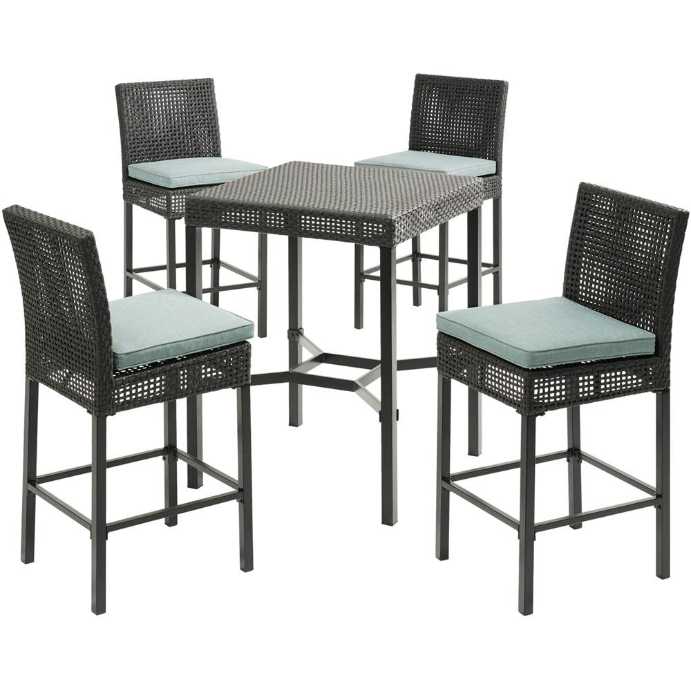Kitchen Stools Malta: Hanover Malta 5-Piece Wicker Outdoor Bar Height Dining Set