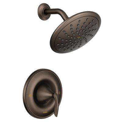 Eva Posi-Temp Rain Shower 1-Handle Shower Only Faucet Trim Kit in Oil Rubbed Bronze (Valve Not Included)