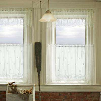 Tidepool 60 in. L Polyester Valance in White