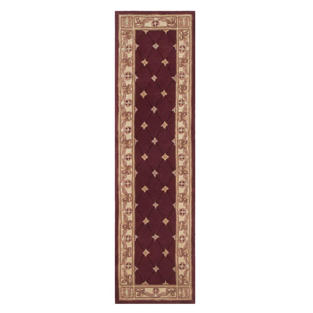 Home Decorators Collection Windsor Burgundy 2 Ft. X 7 Ft