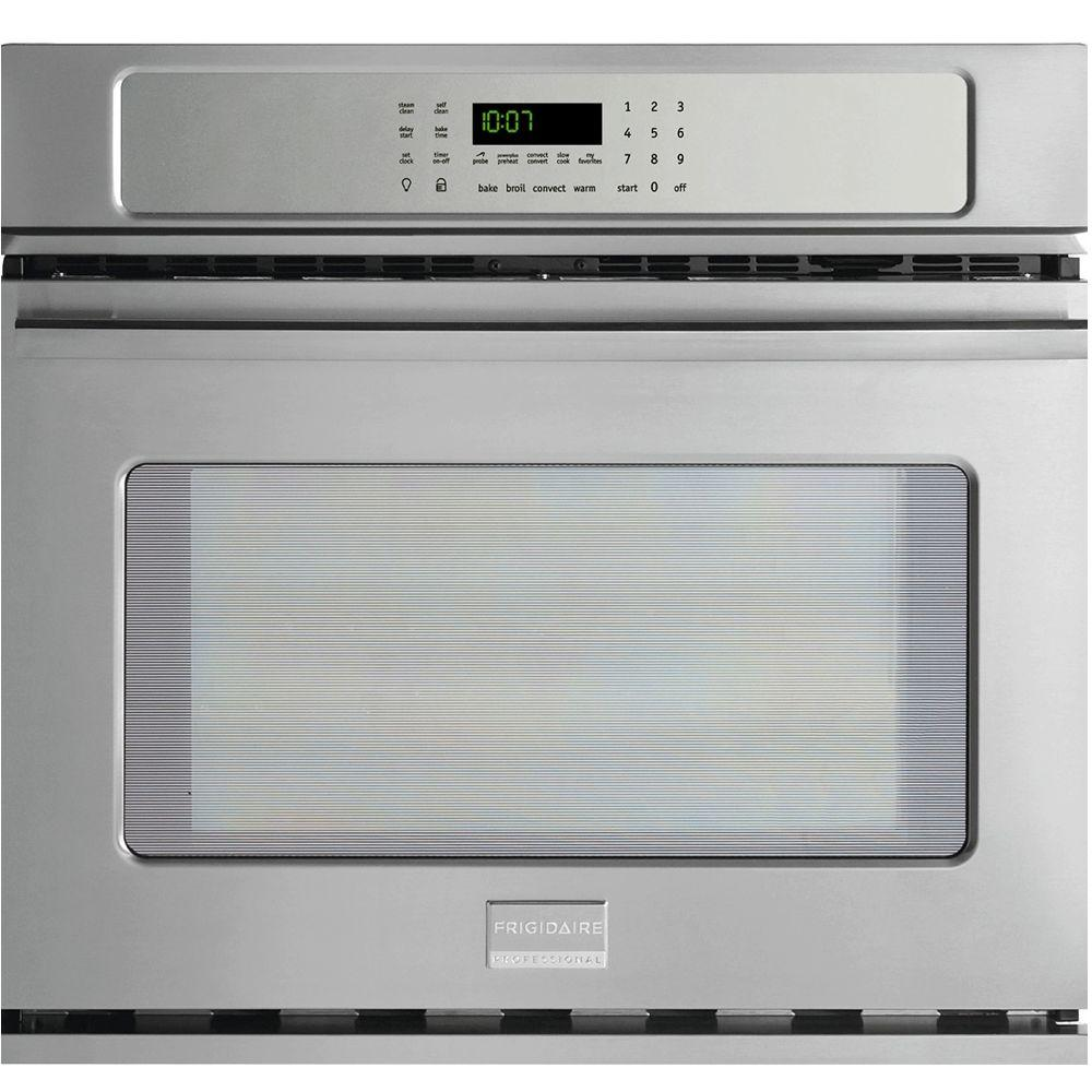 Frigidaire Professional 27 in. Single Electric Wall Oven Self-Cleaning with Convection in Stainless Steel