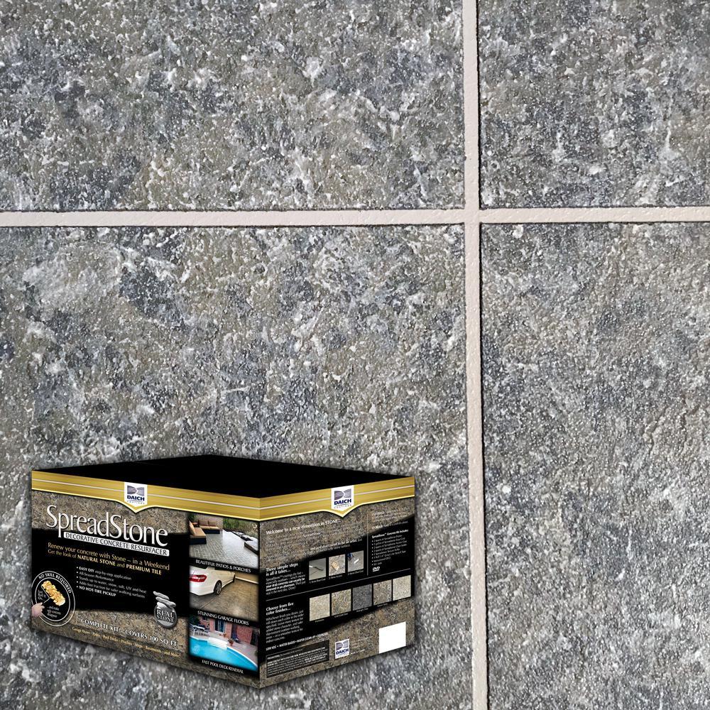 DAICH SpreadStone SpreadStone 10 Gal. LakeRock Satin Interior/Exterior 400 sq.ft. Decorative Concrete Resurfacing Kit