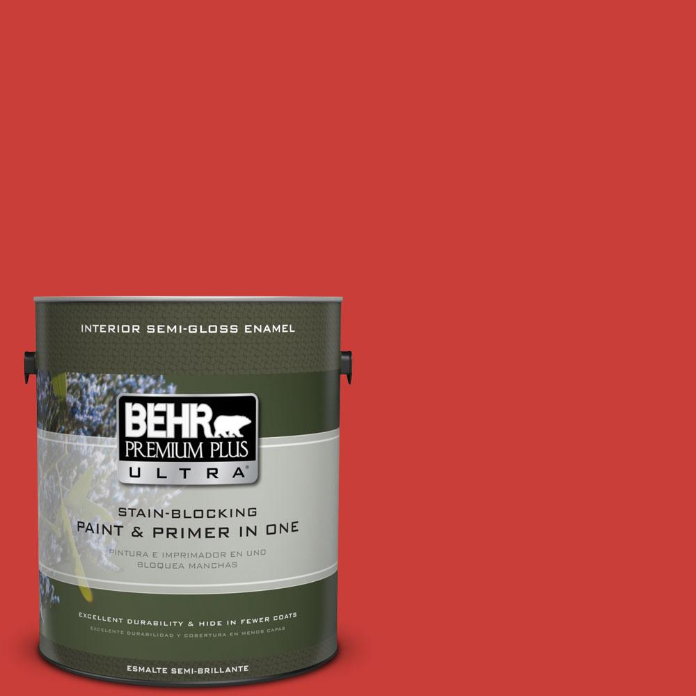 BEHR Premium Plus Ultra 1-gal. #P170-7 100 MPH Semi-Gloss Enamel Interior Paint