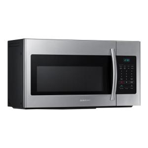 Samsung 30 In W 1 6 Cu Ft Over The Range Microwave Stainless Steel Me16h702ses Home Depot