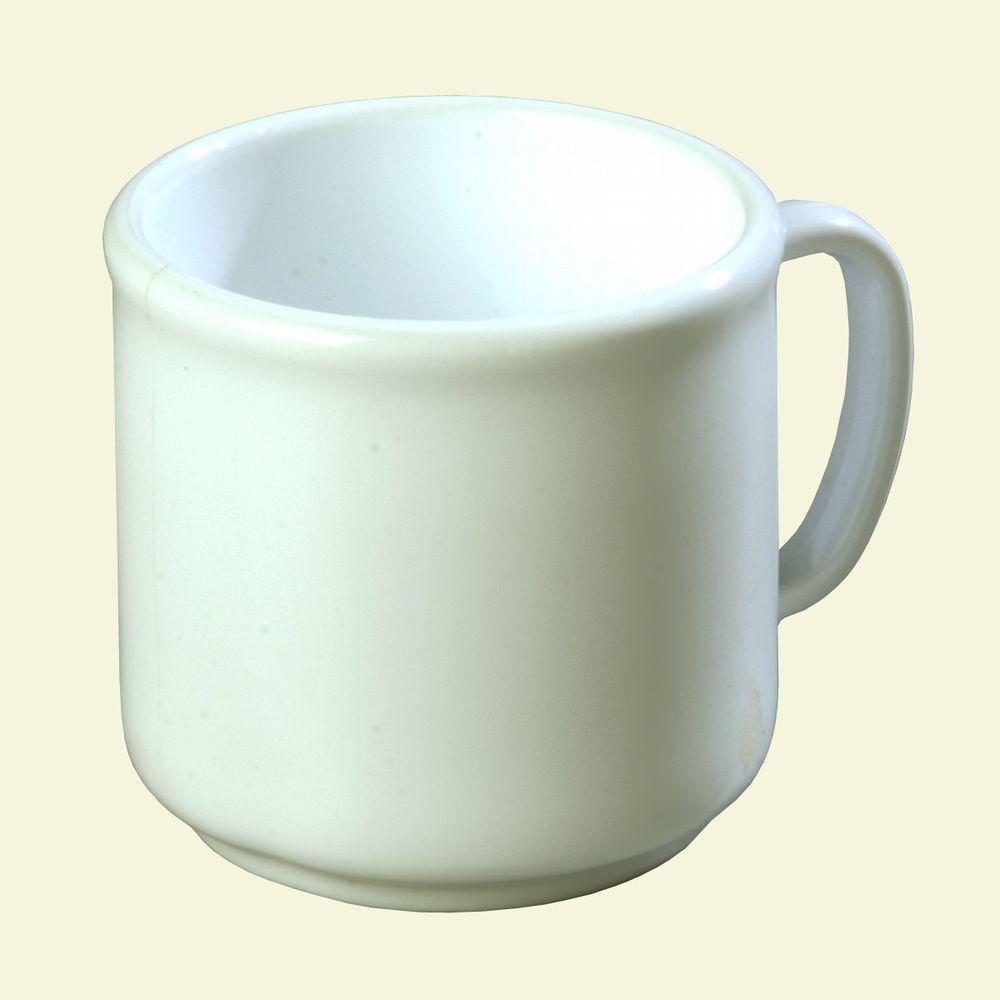 10 oz. SAN Plastic Mug in White (Case of 12)