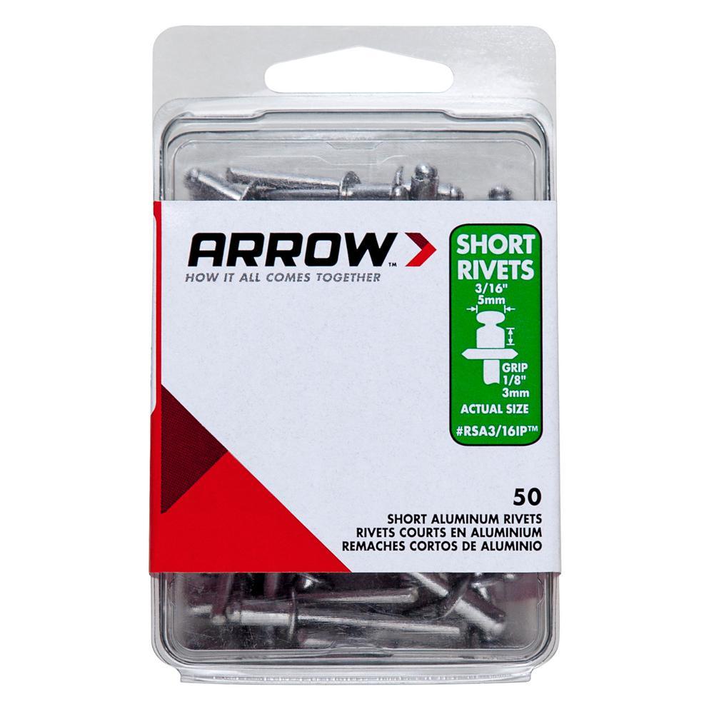1/8 in. x 3/16 in. Aluminum Rivets (50-Pack)
