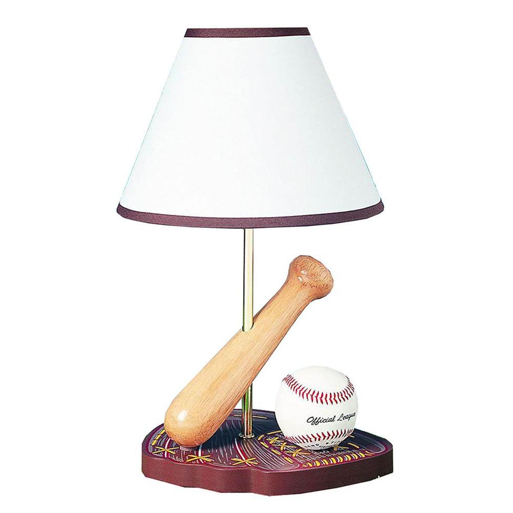 CAL Lighting Cooper 15 in. Multi-Color Baseball Novelty Lamp