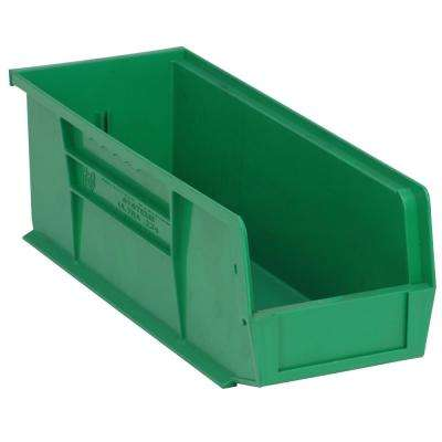 Ultra Series Stack and Hang 6 Gal. Storage Bin in Green (12-Pack)