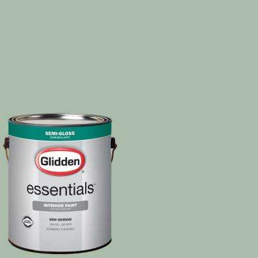 1 gal. #HDGG63 Pale Jade Semi-Gloss Interior Paint