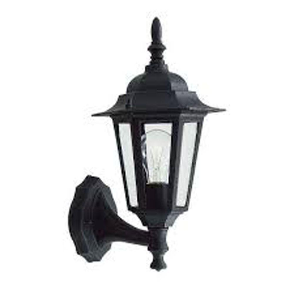 Livex Lighting Providence Wall-Mount 1-Light Outdoor Black Incandescent Lantern