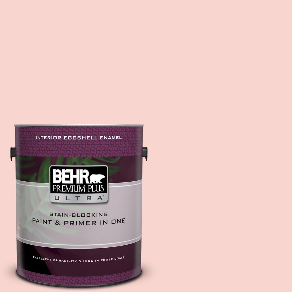 Behr Premium Plus Ultra 1 Gal 170c 2 Creamy Peach Eggshell Enamel Interior Paint And Primer In One 275001 The Home Depot
