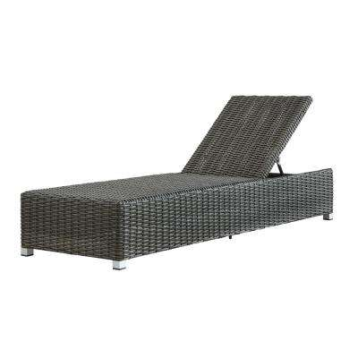 Camari Charcoal Wicker Adjustable Outdoor Chaise Lounge Chair