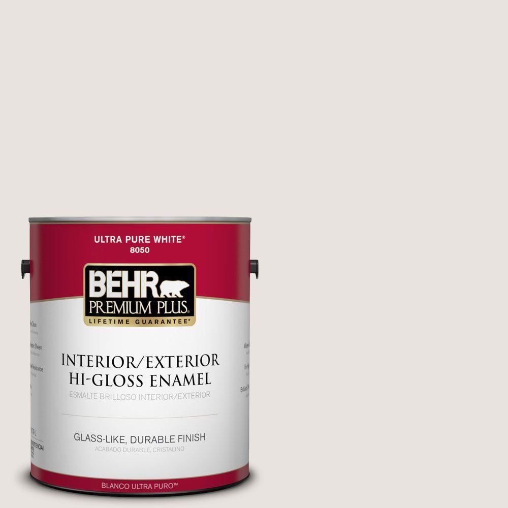 BEHR Premium Plus 1-gal. #790C-1 Irish Mist Hi-Gloss Enamel Interior/Exterior Paint
