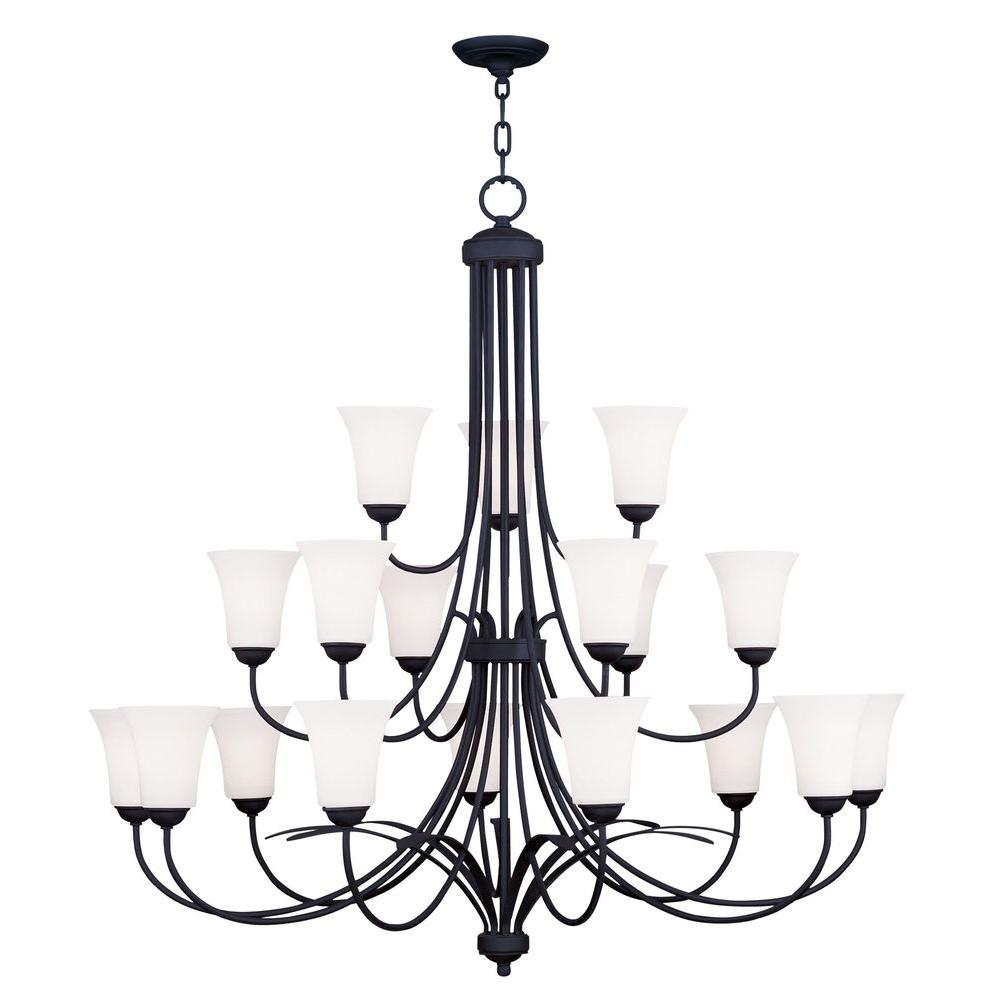 Providence 18-Light Black Incandescent Ceiling Chandelier