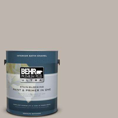 Home Decorators Collection 1 gal. #HDC-CT-21 Grey Mist Satin Enamel Interior Paint and Primer in One