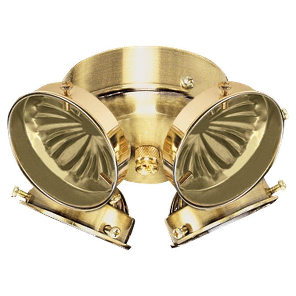 Sea Gull Lighting 4-Light Polished Brass Ceiling Fan Light Kit