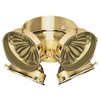 4-Light Polished Brass Ceiling Fan Light Kit