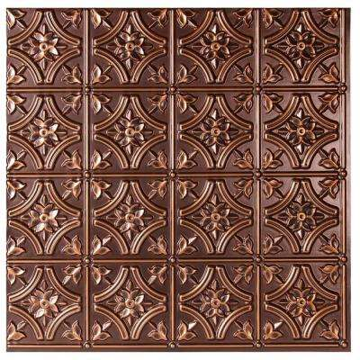 Valencia 2 ft. x 2 ft. Glue-up Ceiling Tile in Antique Copper (48 sq. ft. / case)