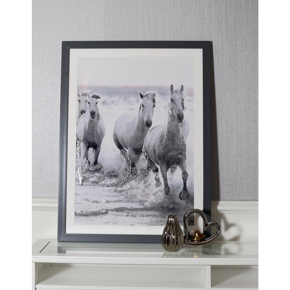 Wild Horses Framed Print Wall art