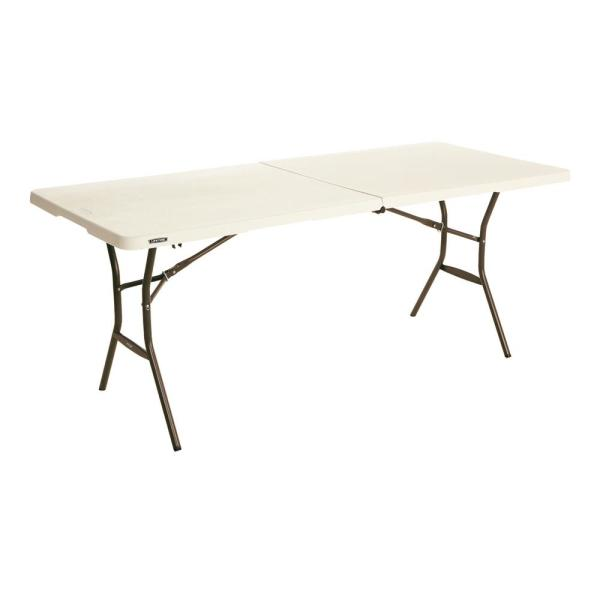 6 ft. Fold-in-Half Table: Almond