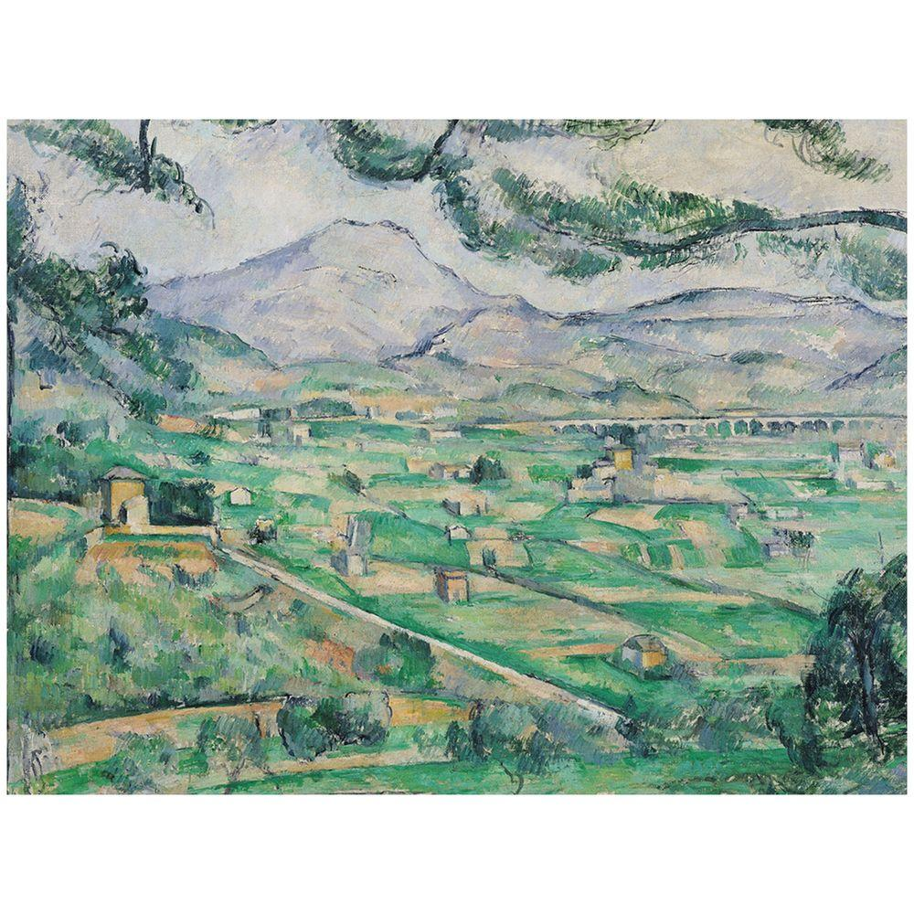 Trademark Fine Art 14 in. x 19 in. Montagne Sainte-Victorie Canvas Art