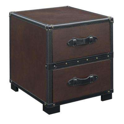 Newport Cherry Transitional End Table